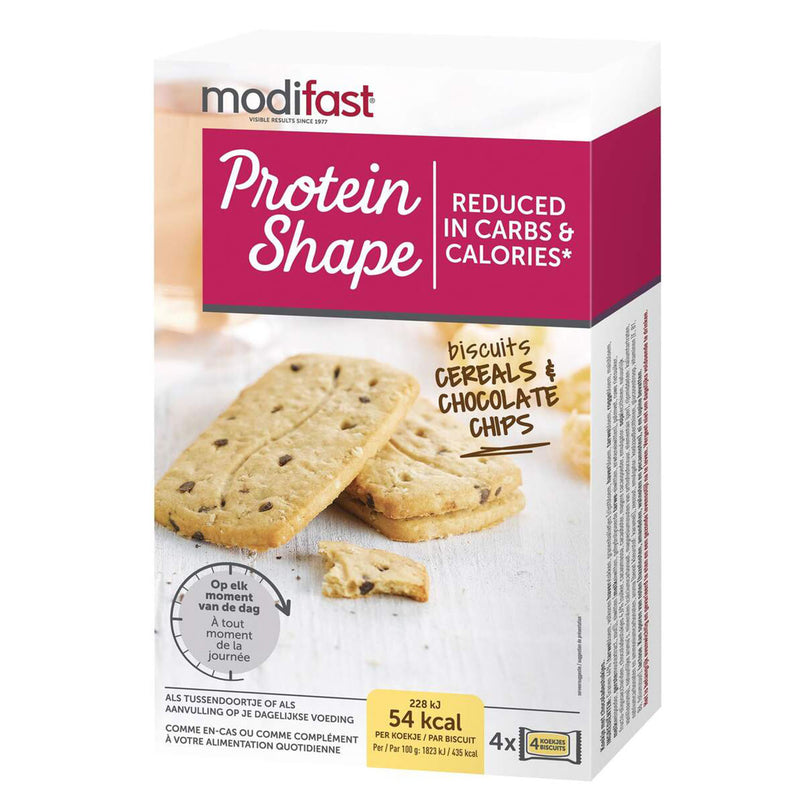 iU- PROTEIN SHAPE BISCUITS CEREALS & CHOCOLATE CHIPS Biscuits proteines- MODIFAST