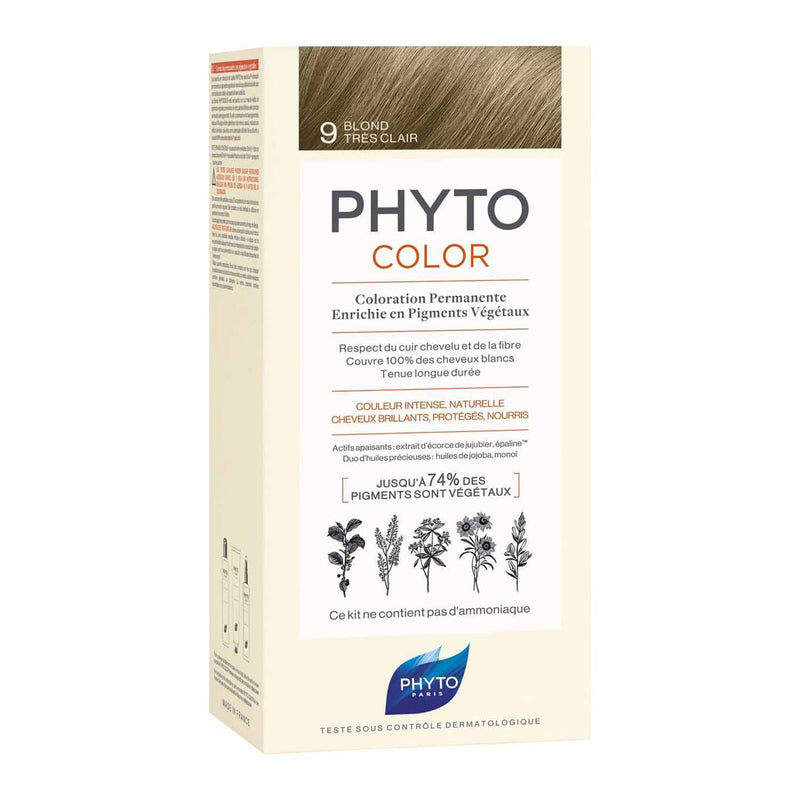 iU- PHYTOCOLOR 9 BLOND TRES CLAIR Kit coloration permanente- PHYTO