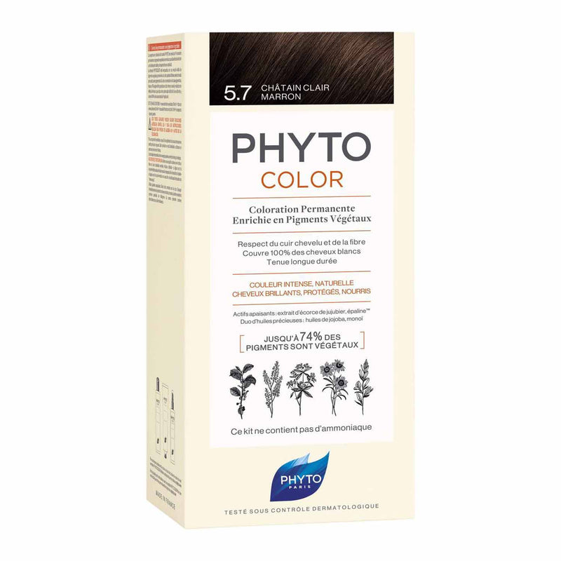 iU- PHYTOCOLOR 5.7 CHATAIN CLAIR MARRON Kit coloration permanente- PHYTO