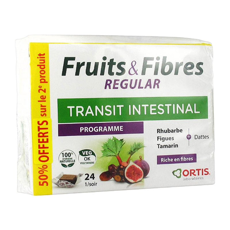 iU- FRUITS & FIBRES REGULAR PROMO DUO Transit intestinal cubes- ORTIS