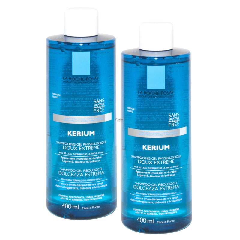 iU- KERIUM SHAMPOOING DOUX EXTREME DUO Shampooing-gel physiologique- LA ROCHE POSAY
