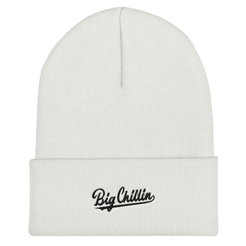 Big Chillin White Cuffed Beanie