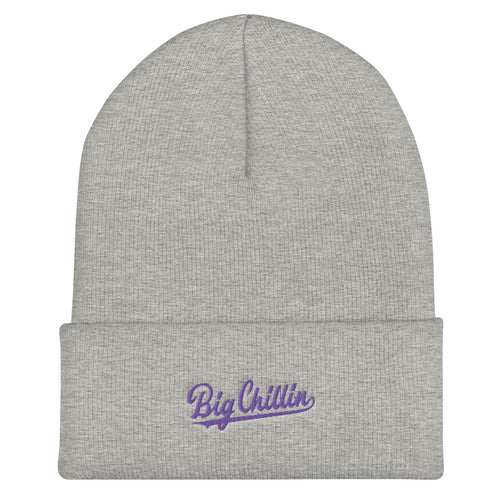 Big Chillin Grey Cuffed Beanie