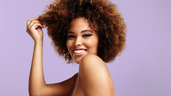 Black women with natural afro hair