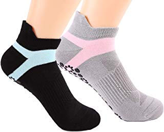Yoga Socks for Women Non Slip Skid Socks with Grips for Sports Pilates Pure Barre Ballet Dance Barefoot Workout
