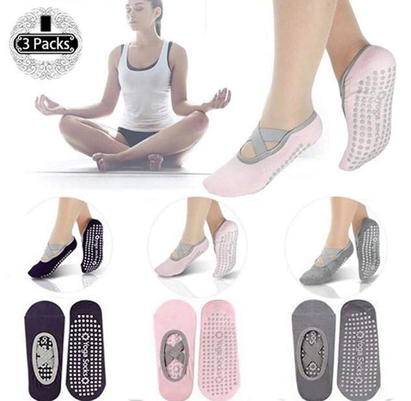 Yoga Socks Non-slip Socks Pilates Barre Fitness Socks Pregnancy Socks Anti-Slip Sole Grip Socks for Womens