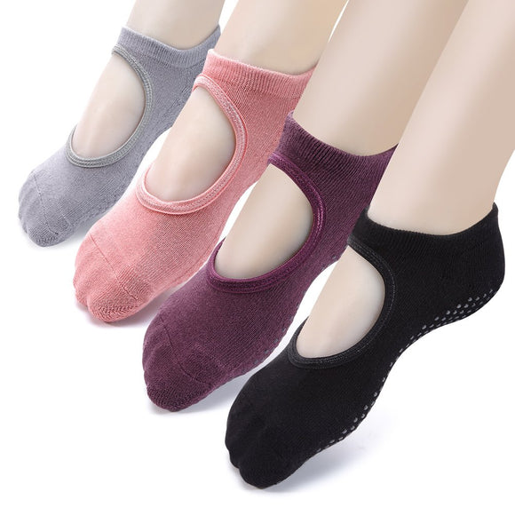 Yoga Socks Non Slip Skid Pilates Ballet Barre with Grips for Women Girls by Cooque …
