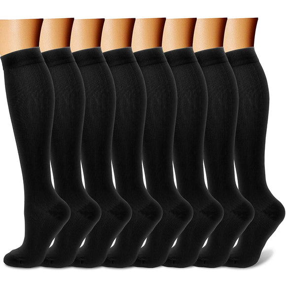 Compression Socks (7/8 Pairs), 15-20 mmHg is Best Athletic & Medical for Men & Women, Running, Flight, Travel, Nurses, Pregnant - Boost Performance, Blood Circulation & Recovery