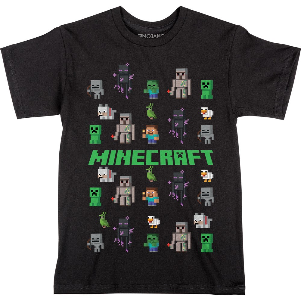 Minecraft All Right Sprites Youth Tee