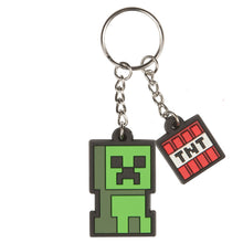 Load image into Gallery viewer, Minecraft Creeper Sprite Keychain