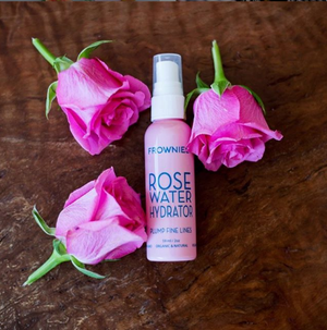 Frownies Rosewater Spray protects from harsh environmental factors