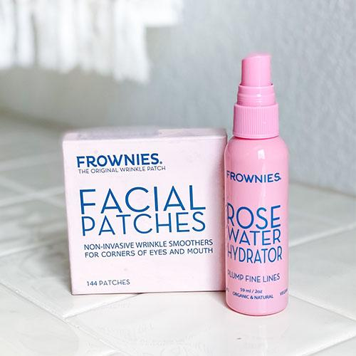 Bundle - Corners of Eyes & Mouth Facial Patches with Rose Water Spray