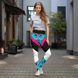 legging patchwork pose - face