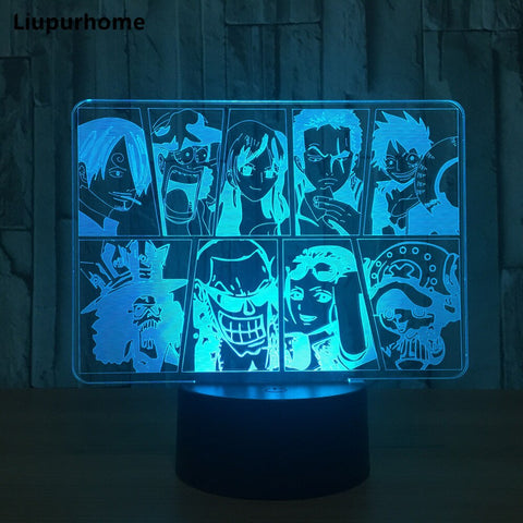 Lampe Acrylique One Piece Mugiwara