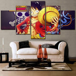 Tableau One Piece Luffy Pirate King