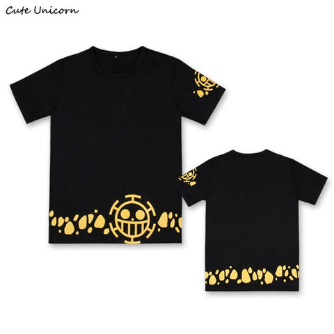 T-Shirt One Piece Jolly Roger Law Jaune