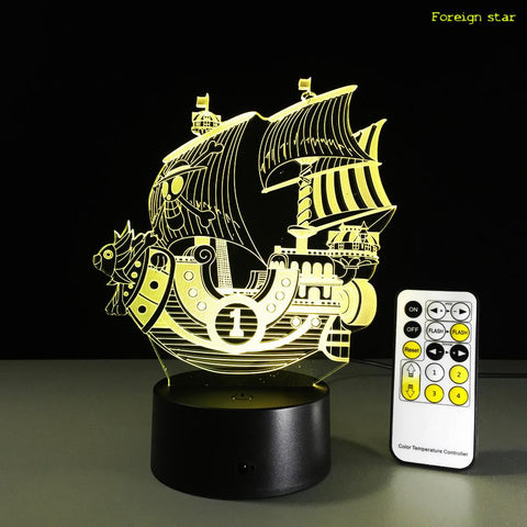 Lampe Acrylique One Piece Thousand Sunny