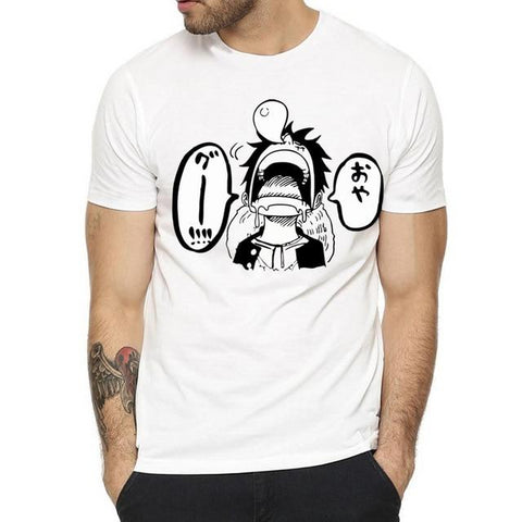 T-Shirt One Piece Luffy qui Dort