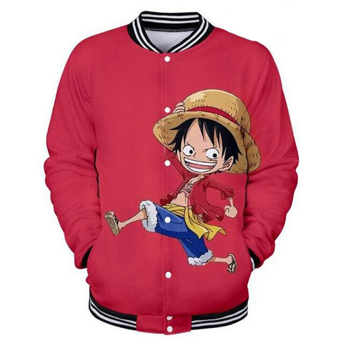 Veste Teddy One Piece Luffy Enfant