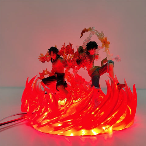 Figurine LED One Piece Luffy et Ace