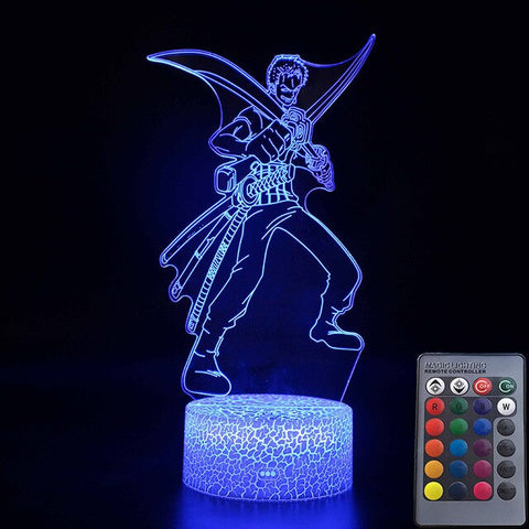 Lampe Acrylique One Piece Roronoa Zoro