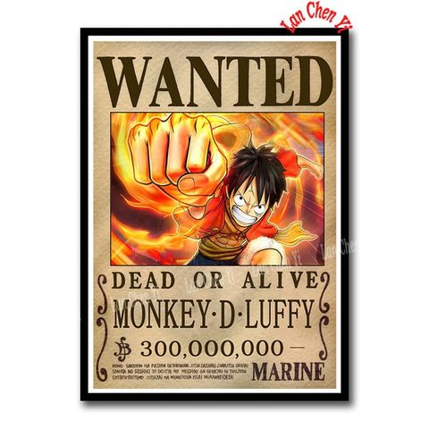 Luffy Wanted One Piece Sticker