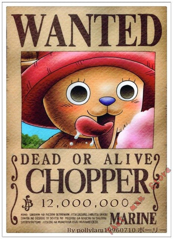 Poster One Piece Tony Tony Chopper Wanted