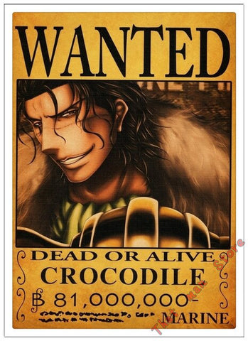 Poster One Piece Crocodile Wanted