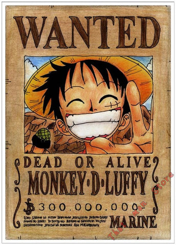 Poster One Piece Monkey D. Luffy Wanted