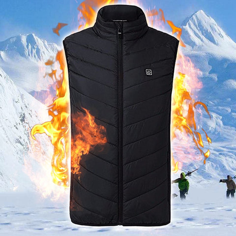Men Winter Powerbank Heated Vest