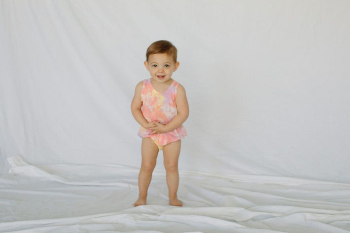 Little Moon Society - Bamboo Summer Romper Sherbert Infant