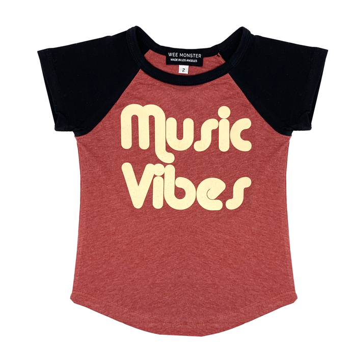 Wee Monster - Music Vibes Raglan Tee