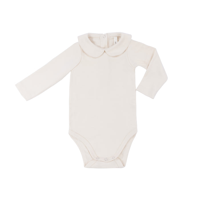 Wild Wawa - Collar Onesie - Natural Solid