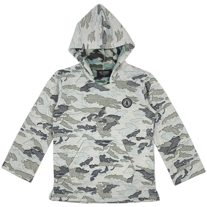 Tiny Whales - Good Vibes Army Poncho - Faded Camo