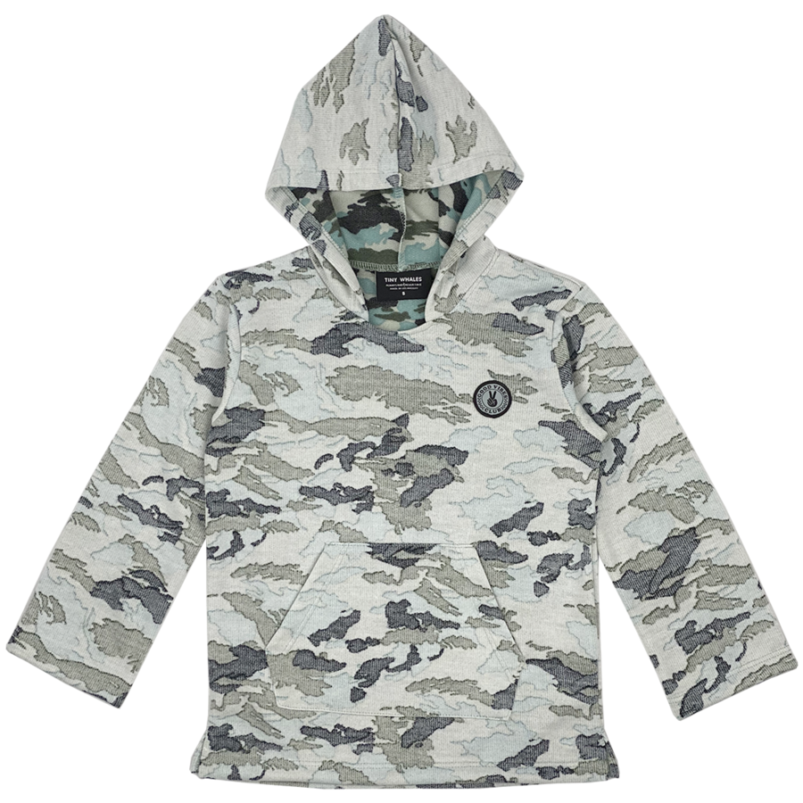 Good Vibes Army Poncho - Faded Camo