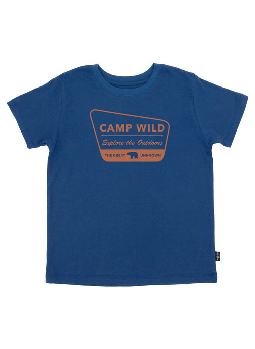 Feather 4 Arrow - Camp Wild Vintage Tee - Navy