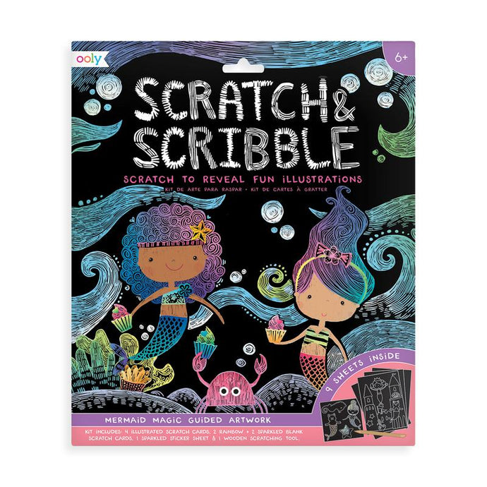 Ooly - Scratch & Scribble Art Kit - Mermaid Magic