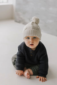 Jamie Kay Cable Knit Hat - Oatmeal Marle