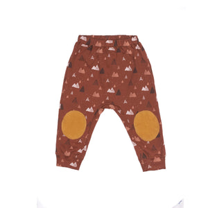 Wild Wawa - Organic Patch Pants - Rust Mountains