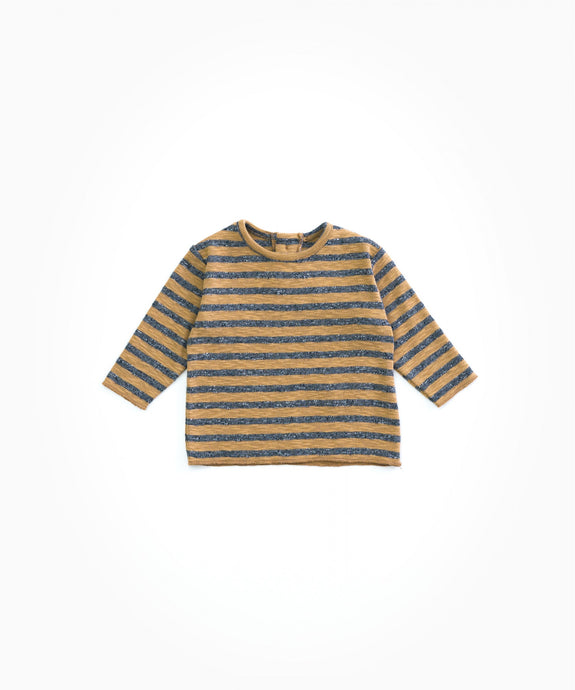 Play Up - Organic Cotton Striped Long Sleeve - Cherry Tree
