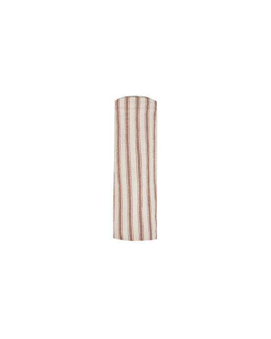 Rylee + Cru - Striped Swaddle - Amber/Natural