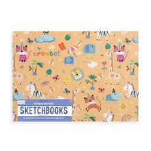 Load image into Gallery viewer, Ooly - Doodle Pad Duo Sketchbooks: Safari Party Set of 2