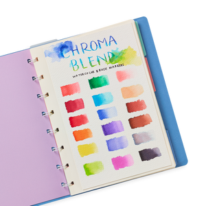 Ooly - Chroma Blends Watercolor Brush Markers - Set of 18