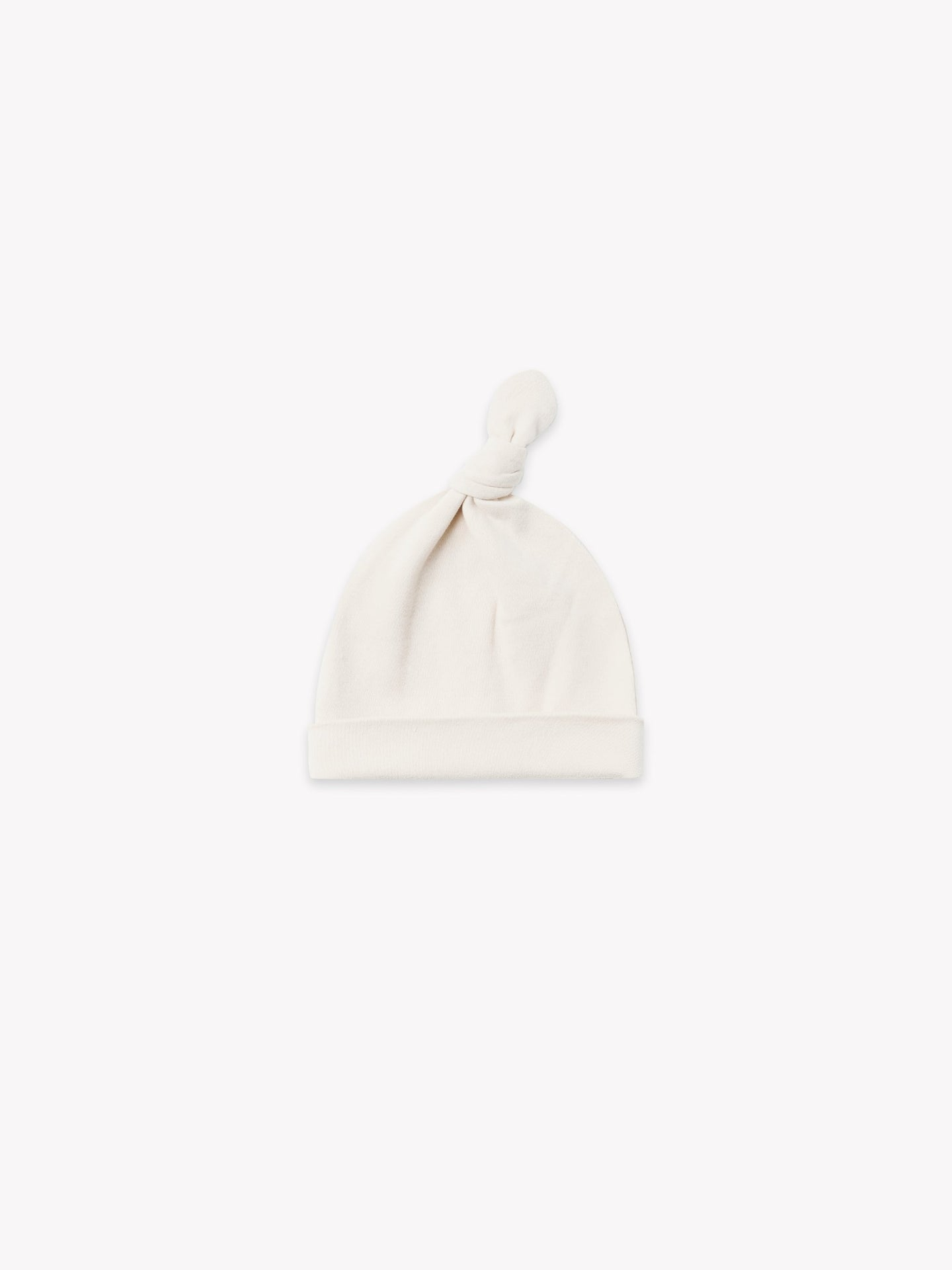 Organic Knotted Baby Hat - Ivory