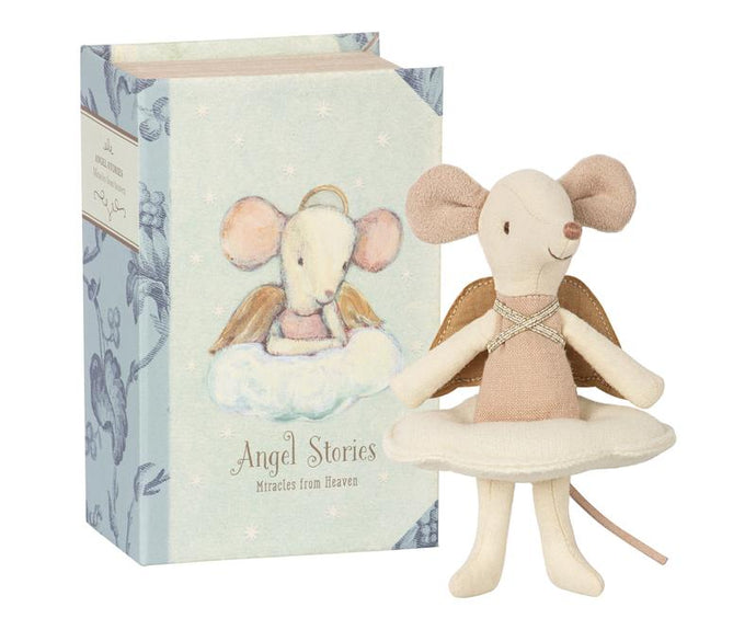 Maileg Angel Mouse - Big Sister in a Book