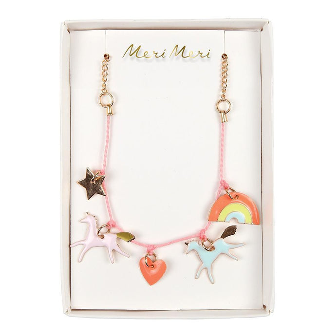 Meri Meri Unicorn Enamel Charm Necklace
