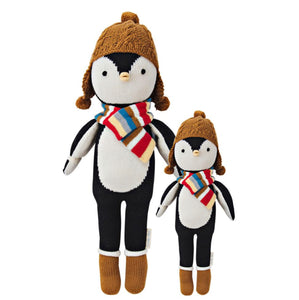 Cuddle + Kind - Everest the Penguin Hand Knit Doll - Little 13""