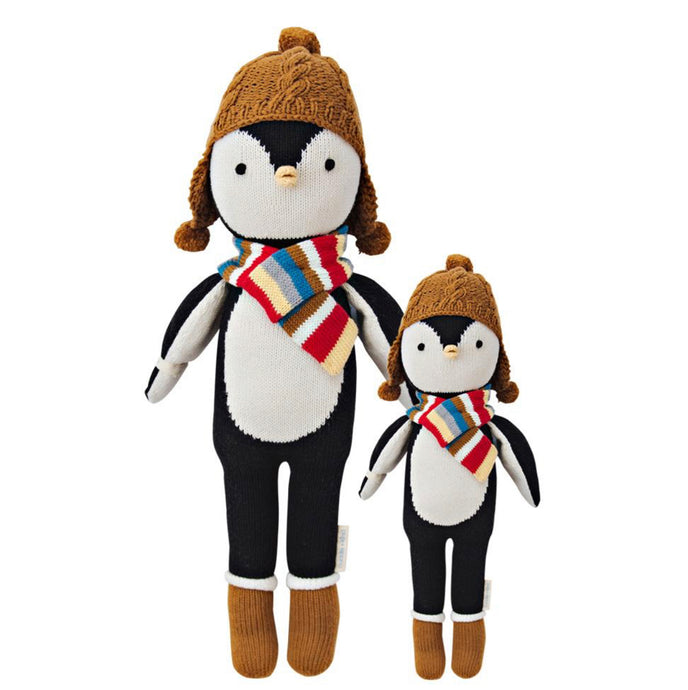 Cuddle + Kind - Everest the Penguin Hand Knit Doll - Little 13