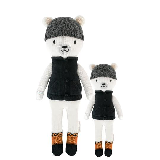 Cuddle + Kind - Hudson the Polar Bear Hand Knit Doll - Little 13