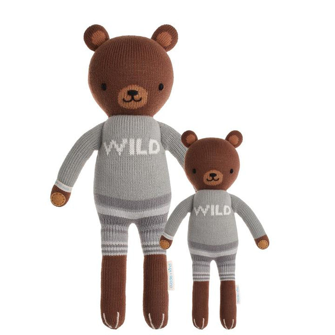 Cuddle + Kind - Oliver the Brown Bear Hand Knit Doll - Little 13
